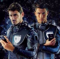 Iker Casillas and Cristiano Ronaldo Cristiano Ronaldo, Jon Snow, Motorcycle Jacket, Game Of Thrones Characters, Sporty, Fictional Characters, Uh Huh, Iker Casillas, Jhon Snow