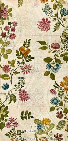 Textile design, by James Leman. Spitalfields, London, England, 1718