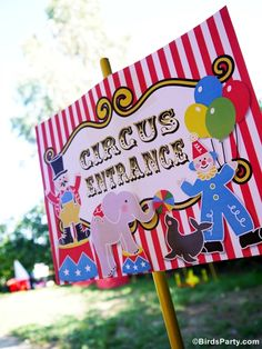 Big Top Circus Birthday Party Ideas