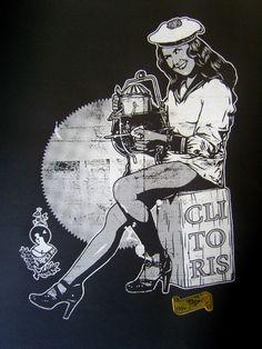 Artiste / artist : Ar-déco Taille / size : 35x50  Couleurs / colors : 1 Imprimé à / printed : Sabordage  Papier / paper :120g Tirage / Edition : 35