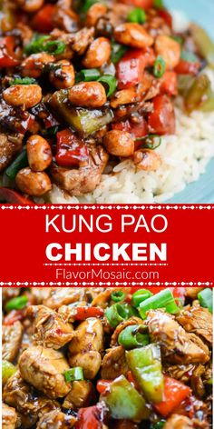 This Easy Kung Pao Chicken Recipe is a quick and easy Chinese inspired recipe that can be ready in less than 30 minutes and makes a great weeknight meal KungPaoChicken StirFryChicken ChineseChicken TakeOutRecipe FlavorMosaic Kung Pao Chicken Recipe Easy, Chinese Chicken Recipes, Easy Chinese Recipes, Healthy Chicken Recipes, Cooking Recipes, Instant Pot Chinese Recipes, Japanese Recipes, Thai Recipes, Indian Recipes