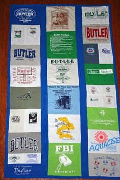T-shirt Quilt I made for the Butler Family Reunion T-Shirts