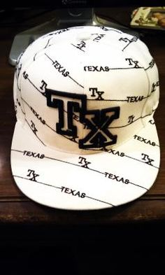 White Fitted Texas Hat