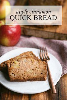 Amazing Quick Apple Bread Recipe with Cinnamon Sugar via @sideofsweet
