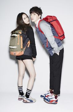 "f(x)'s Krystal Is Youthful and Urban Chic with ""Man from the Stars"" Ahn Jae Hyun in Pictorial 