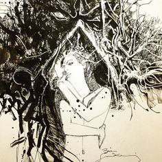 Swamp Thing and Abby by Bill Sienkiewicz