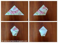 Embellishments: Origami Baskets, Bindings, Portraits or Pockets - Tutorials Wedding Bag, Wedding Favors, Wedding Decorations, Wedding Ideas, Diana Wedding, Diy And Crafts, Paper Crafts, Pink Parties, Bridal Shower Favors