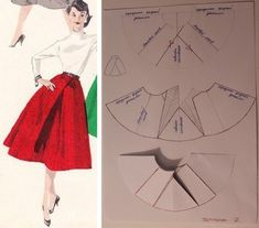 Sewing Skirts Here's a skirt tutorial for the weekend . Dress Making Patterns, Skirt Patterns Sewing, Vintage Sewing Patterns, Clothing Patterns, Pattern Draping, Pattern Skirt, Patron Vintage, Modelista, Techniques Couture