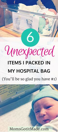 Six surprising items I wish I had thought to pack for the hospital in my labor bag when my son was born #baby #hospital #packingtips