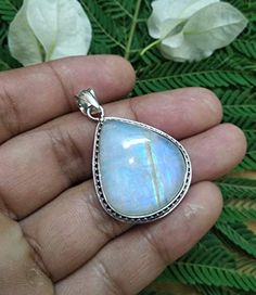 Online shopping from a great selection at GaneshJewellery Store. Moonstone Pendant, Moonstone Jewelry, Gemstone Jewelry, Statement Jewelry, Silver Jewelry, Topaz Gemstone, Healing Crystal Jewelry, Valentines Jewelry, June Birth Stone