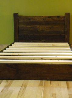 Full Size Platform Bed on Etsy, $550.00