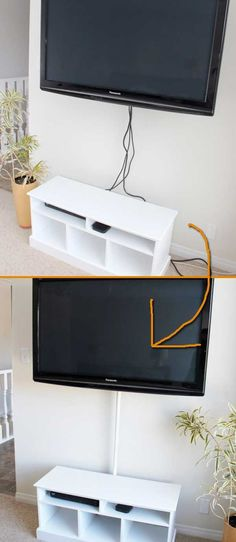 How to hide cords on a wall mounted television with In My Own Style ...