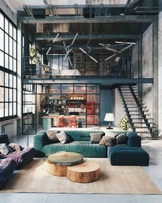 Let's Meet The Interior Loft Design That's Making a Statement Find o. Let's Meet The Interior Loft Design That's Making a Statement Find out how this int Interior Design Examples, Loft Interior Design, Industrial Interior Design, Rustic Industrial Decor, Loft Design, Industrial House, Industrial Interiors, Modern House Design, Interior Design Inspiration
