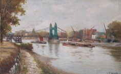 Hammersmith Bridge, London - Charles John de Lacy