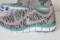 NIKE free 5.0 v4 shoes w/Swarovski Crystals Zebra by luxeice