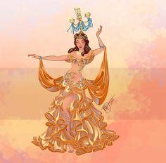 Que tal as Princesas Disney na dança do ventre? A ideia foi da artista italiana Sara Manca– ela é apaixonada e estuda dança do ventre há alguns anos e resolveu combinar cada princesa com um estilo e instrumentos da arte, sempre levando em consideração traços da personagem, como por exemplo, a Bela dançando com o candelabro (o Lumière haha!). Os desenhos sãolindos, ela caprichou em todos osdetalhes das roupas e...