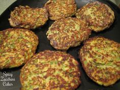 Spicy Zucchini Cakes. OMG yummiest side dish ever with ham! Use WW breadcrumbs.