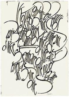 ✍ Sensual Calligraphy Scripts ✍ initials, typography styles and calligraphic art - Berlin Calligraphy Collection: Hans-Joachim Burgert