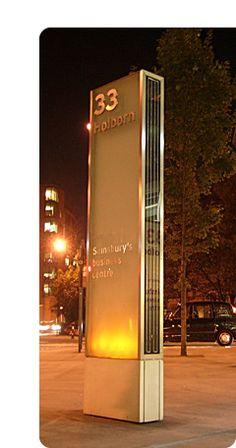 Sainsburys Business Centre Monolith sign 33 Holborn London