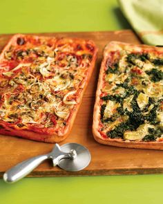 Invite friends for easy deep-dish pies, sure to top the best pizzeria in town.
