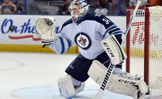 Michael Hutchinson (above) and Ondrej Pavelec are leading the Jets to success so far this season