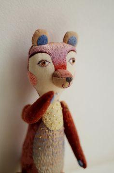 Pink bear by Polina Guzeeva