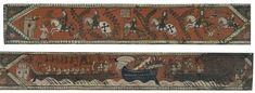 Tabla de artesonado con caballeros, galeras y nave de alta borda | Museu Nacional d'Art de Catalunya