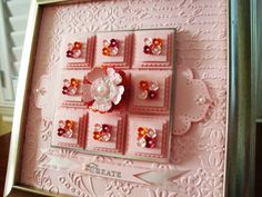 Spring Sampler by Penny Thomas Pink Pirouette, Rose Red, Pumpkin Pie card stock. Pewter embossing powder, various punches & embossing folders