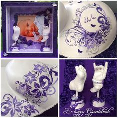Ivana, Belly Casting, It Cast, Tableware, Design, Lilac, Picture Frames, Pregnancy, Flowers