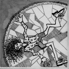 epiléptico sobre alfombra persa ....... by RAMIRO QUESADA : epiléptico sobre alfombra persa /  toma carbamazepina y fenobarbital      autor: RAMIRO QUESADA  técnica: tinta y mixta   dimensiones: 15,8 cm por 15,8 cm     quesadaramiro
