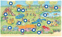 Naar de speeltuin (getekend door Dagmar Stam) by Paula Prevoo