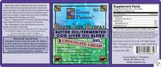 BLUE ICE™ Royal Butter Oil/Fermented Cod Liver Oil Blend $49 (http://www.greenpasture.org/public/Products/ButterCodLiverBlend/index.cfm)