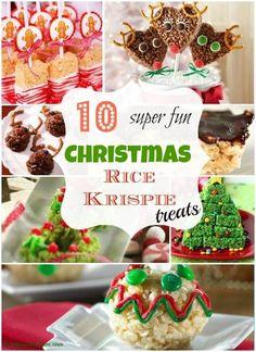 10 Christmas Rice Krispie Treats