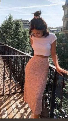 Girly Outfits, Cute Casual Outfits, Pretty Outfits, Chic Outfits, Fashion Outfits, Cute Outfits With Skirts, Fashion Trends, Long Skirt Outfits For Summer, Spring Outfits