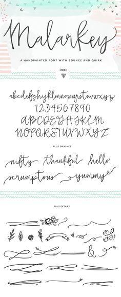 Cute handwritten / watercolor font.