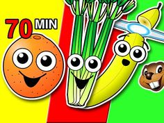 Fruit & Veggies Songs Collection   Learn Fruit + Vegetable Names, Colors, Colours   Nursery Rhymes - YouTube