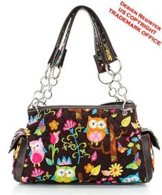 Amazon.com: OWL Print Fashion Bag BRN: Everything Else