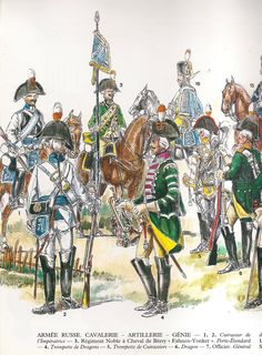 Cavalleria, artiglieria e genio russi