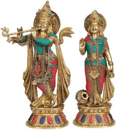 Krishna and Radha (Inlay Statue) // 20in $671