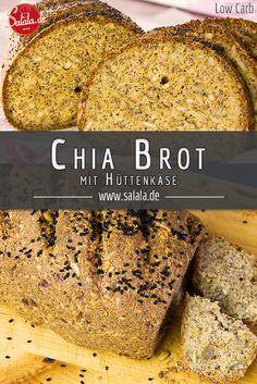 Das Chia Leinsamen Hüttenkäsebrot ist ein herzhaftes, nach richtigem Brot schmeckendes, ➤ Low Carb Brot welches nicht schwer zu backen ist und dabei lecker nach Brot schmeckt. - salala.de