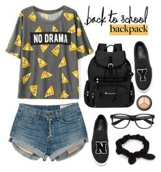 """Back to School: New Backpack"" by dora04 ❤ liked on Polyvore featuring rag & bone, Sherpani, Joshua Sanders, H&M, NLY Accessories and BackToSchool"
