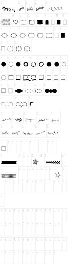 KG Flavor and Frames Three font - free dingbat font at dafont.com
