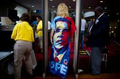 Below: Kelly Jacobs, a delegate from Mississippi, wore a homemade Obama dress to the Democratic National Convention in Charlotte, N.C. Photo by Damon Winter/The New York Times