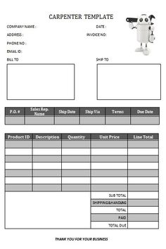 CARPENTER INVOICE TEMPLATE-16