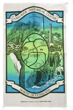 Queensland on a tea-towel Cairns, Tea Towels, Abandoned, National Parks, Copper, Scrapbook, Queensland Australia, Preserves, Madonna