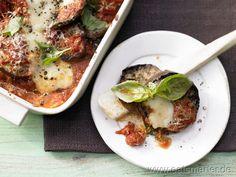 Auberginen-Auflauf  mit Tomaten, Parmesan und Mozzarella - smarter - Kalorien: 323 Kcal | Zeit: 70 min.