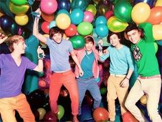 We would have a challenge. Who can blow up more ballons?