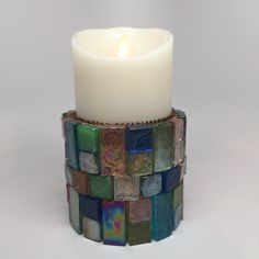 Buy Me on URCRafti.com! Candle Holder - Mosaic Gemstone by Donna Braden At least Pin Me so everyone can see!