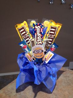 Minion candy bouquet