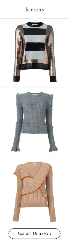 """""""Jumpers"""" by anja-173 ❤ liked on Polyvore featuring tops, sweaters, black, sequin sweater, sequin top, jumper top, maxmara, jumpers sweaters, grey and grey jumper"""
